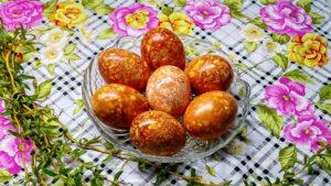 Пасхальные мраморные яйца