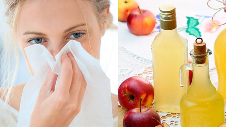 лечение яблочным уксусом насморка, ринита